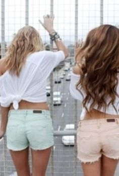 and yes - always the tied white shirt  pastel shorts for the summer!!