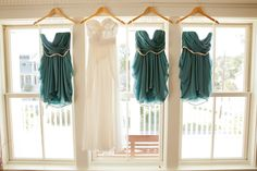 Bridesmaids dresse by @Watters / Wedding gown by Claire La Faye, Photography by kellanstudios.com