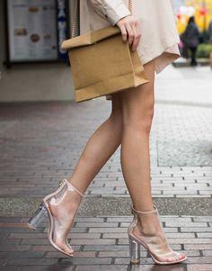 Peep Toe Clear Heel Boots