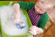 bubbles sensory tub