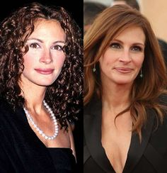 Slide 9 of 47: The only thing that's changed about 50-year-old Julia Roberts in the past 17 years is her hair.