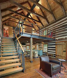 1000 images about upstairs loft on pinterest log cabins for Costruire un ranch