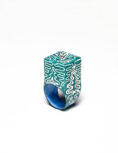 rings / Beate Klockmann, Copper, Enamel