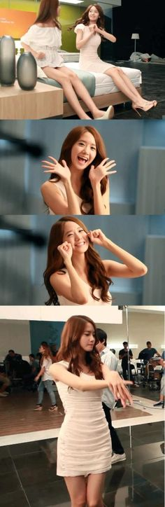 BTS photos of Girls' Generation's YoonA on 'Ace Bed' CF set