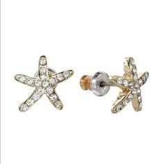 Lc Lauren Conrad Starfish Stud Earrings New