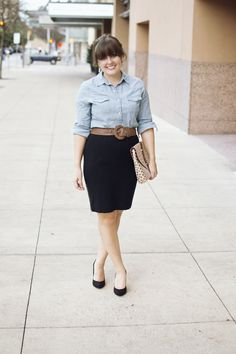 aj wears clothes :: little rock arkansas style blogger: Take One, Day 20 :: Office Chambray