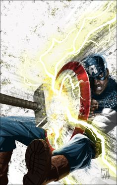 Impact by Albert Hulm #captainamerica #Mjolnir