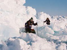 Ann Daniels leading the Catlin Arctic Survey in 2011.