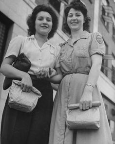 Hatfield's & McCoy's: Frankie McCoy and Shirley Hatfield pose together in a photograph that appeared in Life magazine in May 1944. (Credit: Walter Sanders//Time Life Pictures/Getty Images)