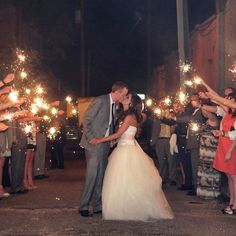Sparkler Send-off | Dana Laymon Photography | 128 South | Theknot.com