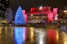 Red Arrow Park for ice skating, lights, and hot drinks (Downtown MKE Pin of the Day, 11/24/2014).