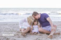 Cute posing idea for a small family.
