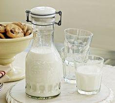 Glass Milk Carafe   Pottery Barn perfect for homemade baileys