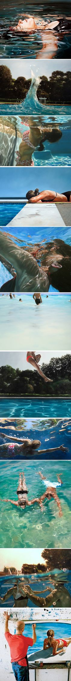 Conheça o trabalho do artista Eric Zener, que cria essas incríveis pinturas hiperrealistas.
