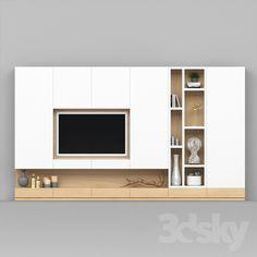 models other - tv_stand_ Living Room Tv Unit Designs, Wall Unit Designs, Living Room Wall Units, Living Rooms, Tv Stand Modern Design, Tv Stand Designs, Tv Unit Decor, Tv Wall Decor, Tv Cabinet Design