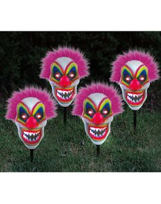 Scary Clown LED Lawnstakes – Spirit Halloween