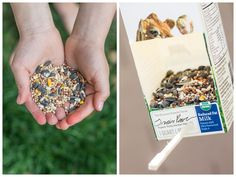Easy Earth Day Crafts for Kids - Recycled Bird Feeder