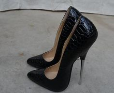 Women's 16cm High Heel Stilettos Super Sexy Nightclub Pumps Pointed Toe Shoes