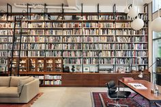 Brooklyn Artist Loft, Library, New York, 2011, BWArchitects