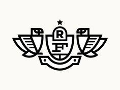 Designspiration — Dribbble - Falcon by Ryan Harrison Logo Branding, Branding Design, Logo Design, Falcon Logo, Typographie Logo, Crest Logo, Logo Line, Badge Design, Design Graphique