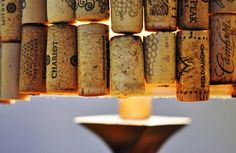 DIY Wine Cork Lampshade that you can make easily at home - HomeCrux