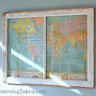 Vintage Map Window