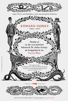 Edward Gorey illustrated poster from Madrid