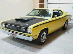 Sell used 1971 Plymouth Duster -Lemon Twist Yellow Blk Stripes See Video- No Reserve in Dallas, Texas, United States Plymouth Muscle Cars, Plymouth Duster, Baby Friends, See Videos, Dusters, Fast Cars, Mopar, Concept Cars, Cars For Sale