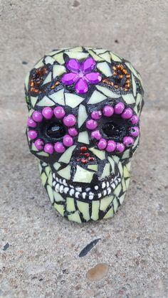 Check out this item in my Etsy shop https://www.etsy.com/ca/listing/461019616/mosaic-mini-sugar-skull-desktop