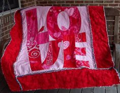 Valentine Love Rag Quilt by marylandquilter on Etsy, $79.00