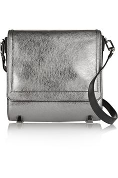 Alexander WangChastity metallic cracked-leather shoulder bag