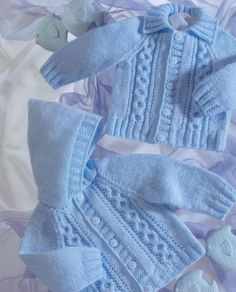 Knit Baby Cabled Hooded Cardig