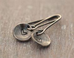 Valentines day heart earrings love earrings by SylviaArtGallery