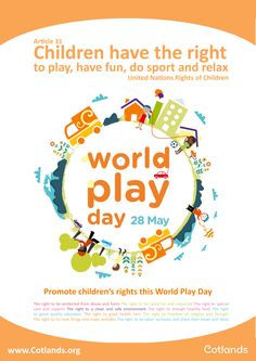 Children have the right to play, have fun, do sport and relax - Article 31 of the United Nations Rights Of Children.