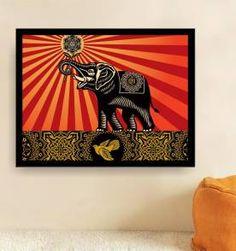 poster elefante - 30x40 cm