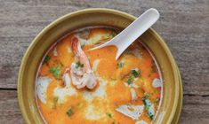 Chicken & Shrimp Coconut Soup (Tom Yum)