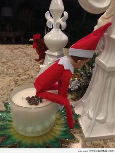 Inappropriate Elf on a Shelf