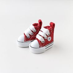 Neo Blythe Pullip Doll Canvas Sneakers Micro Shoes - Red #Unbranded