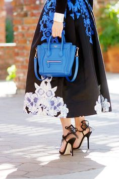 HallieDaily TIBI Full Skirt and Off the Shoulder Knit Top with Celine Bag and Dolce Gabbana Shoes_8