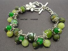 Handmade Green Gem Bracelet