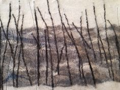 Lei55/ woolfelt painting