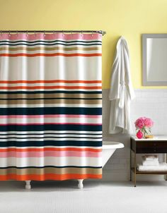 Striped Shower Curtain - http://laptopstandsguide.com/819-striped-shower-curtain.html