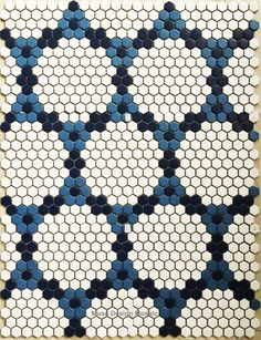 Tile For Walls Quality Floor Art Directly From China Pool Suppliers Nordic White Blue Hexagon Puzzle Ceramic Mosaic Bars