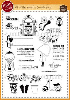 {favorite things} March 2010 Kit of the Month by Unity Stamp Company