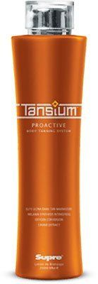 Supre Tansium Tanning Lotion Tansium Proactive Body Tanning System Elite Ultra Dark Tanning Maximizers 8 oz by Supre. $14.34. Contains 12 Principle Minerals, 18 Amino Acids, 6 Essential Vitamins, and Oxygen Conversion TechnologyTM.. Proactive system enhances the present and future health of skin.. New AlgoMaxTM Tanning Technology with Melanin Synthesis Intensifiers.. Caviar Extract for anti-aging skin renewal.. Fragrance: Wild Raspberry Vanilla & Blackberry 8 oz. Tansium Bo...