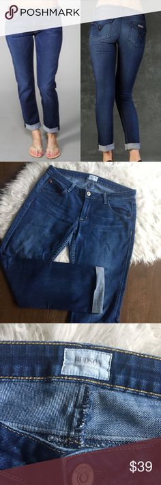 Hudson Bacara Straight Leg Crop Jean Straight leg style cropped Jean. Rolled hems. Stock distressing and whispering. Flap pocket detail on back. 💫 Smoke free home. Offers are welcome! No trades/holds/modeling requests, please. Bundle multiple items for a discount and only pay for shipping once! Hudson Jeans Jeans Ankle & Cropped