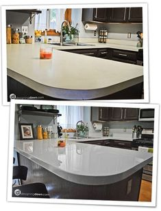 Pics On Kitchen or bathroom countertop update on a budget Rustoleum specialty paint for countertops es