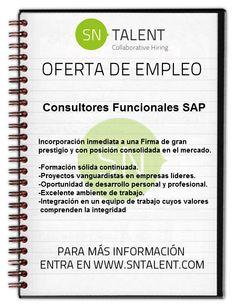 #Empleo #Consultores Funcionales #SAP (Módulos #Financieros y #Logísticos)