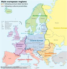 Political & Cultural Classification of Europe