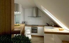 Kleine Küche Dachschräge Fenster Design